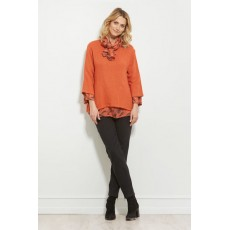 Masai Barbara top Long sleeve Flame Org