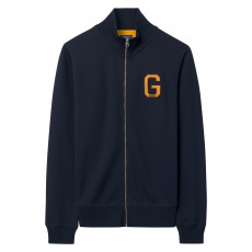 Gant Graphic Full Zip Cardigan Blue