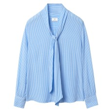 Gant Banker Bow Blouse Winter Sky