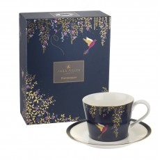 Sara Miller Chelsea Collection Cup & Saucer Navy