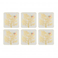 Sara Miller Chelsea Collection Light Grey Coasters Set 6