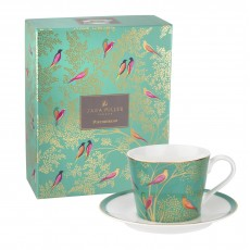 Sara Miller Chelsea Collection Cup & Saucer Green