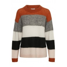 Part Two Mibby PU Pullover Artwork Dark Orange