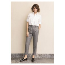 Part Two Lacey Trousers Medium Grey Melange