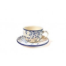 Country Pottery Teacup+Saucer Dragonfly