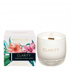 Stoneglow Infusion Clarity Tumbler Candle - Cashmerian Wood & Saffron