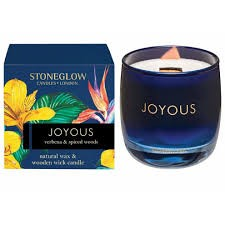 Stoneglow Infusion Joyous Tumbler Candle - Verbena & Spiced Woods