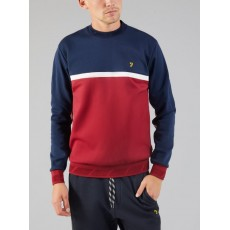 Farah Sport Kendrew Crew Sweat Red