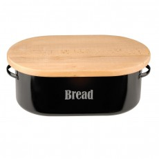Typhoon Vintage Kitchen Black Bread Bin