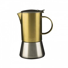 La Cafetiere Edited 4 Cup Stainless Steel Stovetop Brushed Gold