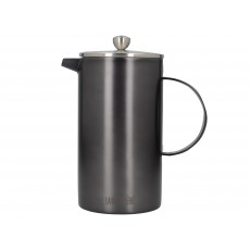La Cafetiere Edited Doubled Walled 8 Cup Cafetiere Gun Metal Grey