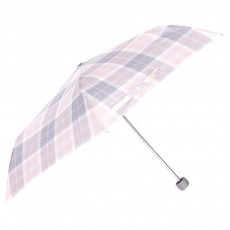 Barbour Portree Umbrella Pink & Grey