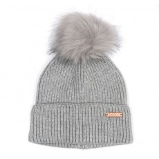 Barbour Mallory Pom Beanie Grey