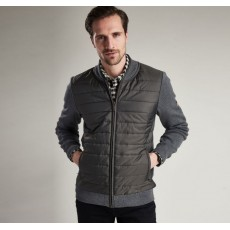 Barbour Baffle Zip Through Wax Jacket Storm Marl