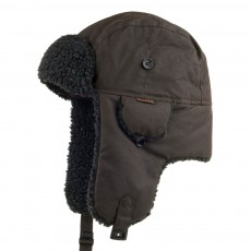 Barbour fleeced lined Trapper Hat Olive