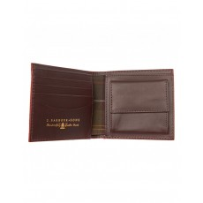 Barbour Gain Leather Wallet Dark Brown