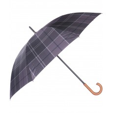 Barbour Tartan Walker Umbrella Black/Grey