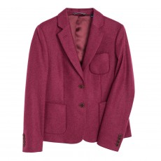 Gant Wool Twill Blazer Patches Purple Fig