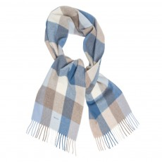 Gant Multicheck Lambswool Scarf Blue