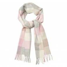 Gant Multicheck Lambswool Scarf Pink