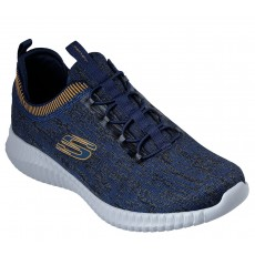 Sketchers Elite Flex Hartnell Navy and Yellow