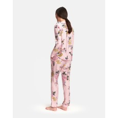 Joules Astrid Jersey Pj Set Pink Stripe Chinoise