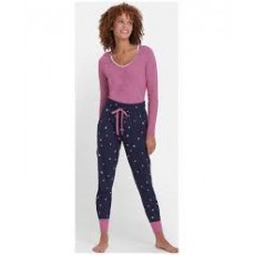 Joules Joycelin Long Cuffed Jersey Pj Bottoms French Navy Star