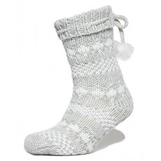 Superdry Sparkle Fairisle Slipper Socks