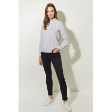 Great Plains Cotton Melange Ls Blouse Grey Melange