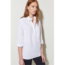 Great Plains Cotton Poplin Ls Pocket Shirt Optic White