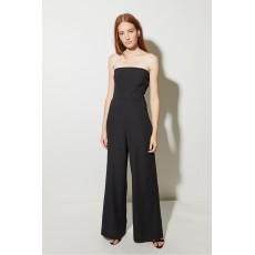 Great Plains Bow Detail S/Lss Jumpsuit Black
