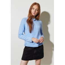 Great Plains Milly Knits Ls Crew Neck Jumper Chambray Blue
