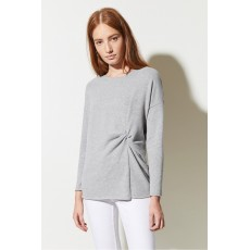 Great Plains Kitten Soft Ls Rnd Neck  Top Grey Melange