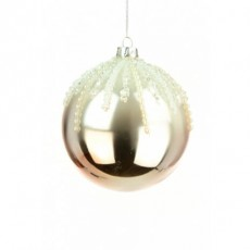 Glass Galice Bauble 10cm Light Copper