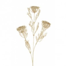 Glittered Dill Spray Champagne 3 71cm
