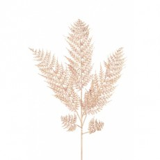 Glittered Leather Fern 86cm Rose Gold