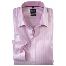 Olymp New York Kent Pink Stripe Level 5 Shirt