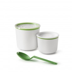 Lunch Pot White/Lime