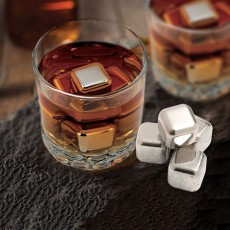 4 Stainless Steel Whisky Stones
