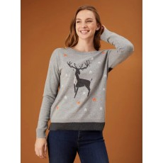 White Stuff Maurice Moose Jumper Grey Mix Pr