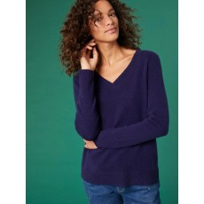 White Stuff Cashmere Lea Jumper Navy Mix