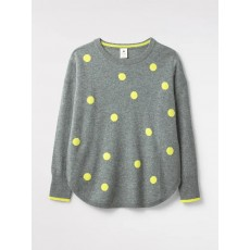 White Stuff Cashmere Nina Spot Jumper Lime Grey Pr
