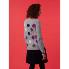 White Stuff Spot It Jumper Grey Ml Pr