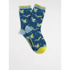 White Stuff Flying Owls Sock 2 Pack