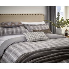 Peacock Blue Hotel Collection Vallorie Bedding Graphite