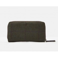 Joules Fairfordtweed Purse Green Check
