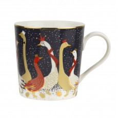 Sara Miller Christmas Collection Geese Mug 12oz