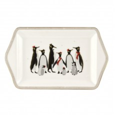 Sara Miller Christmas Collection Penguin Dessert Tray