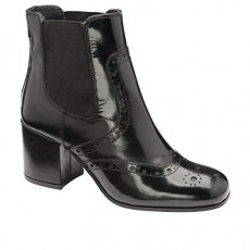 Ravel Cove Black High Shine Leather