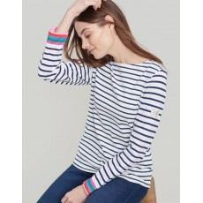 Joules Harbour Multi Cuff Stripe Jersey Top